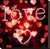 Kærlighed Opspændt lærredstryk af Kate Carrigan