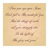 Turn Your Eyes Upon Jesus Plakat af Veruca Salt