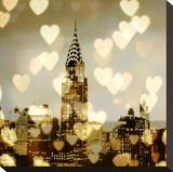 I Love NY I Opspændt lærredstryk af Kate Carrigan