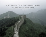 A Journey Of A Thousand Miles Quote Poster di Veruca Salt