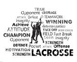 Lacrosse Text Prints by Veruca Salt