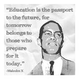 Education is the Passport to the Future Affiches par Veruca Salt