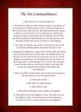 The Ten Commandments - Red Plakater af Veruca Salt