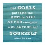 Set Goals square Poster di Veruca Salt
