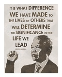 The Life We Lead - Nelson Mandela Poster di Veruca Salt