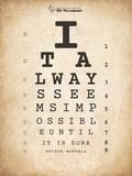 Nelson Mandela Eye Chart II Láminas por Veruca Salt