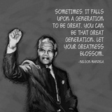 Greatness - Nelson Mandela Quote Affiches par Veruca Salt