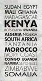 African Countries I Arte por Veruca Salt