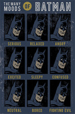 Batman- The Many Moods Poster