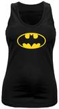 Juniors Tank Top: Batman- Yellow Logo Womens Tank Tops