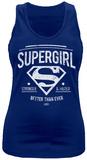 Juniors Tank Top: Supergirl- Better Than Ever Linnen för damer