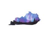 Kentucky State Watercolor Plakat av Jessica Durrant
