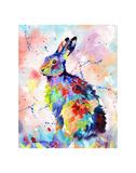 Color Hare Poster di Sarah Stribbling
