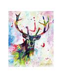 Color Stag Stampe di Sarah Stribbling