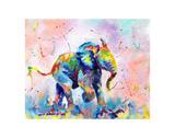 Colorful Elephant Plakater af Sarah Stribbling