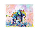 Colorful Elephant Stampe di Sarah Stribbling
