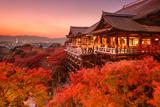 Kyoto, Japan at Kiyomizu-Dera Temple. Fotografisk trykk av  SeanPavonePhoto