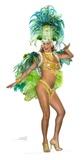 Groovy Green Festival Babe Figura de cartón