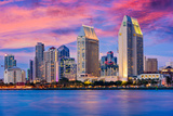San Diego, California, USA Downtown Skyline. Photographic Print by  SeanPavonePhoto
