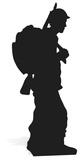 Soldier Silhouette Pappfigurer