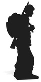Soldier Silhouette Figura de cartón