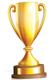 Large Champions Trophy Pappfigurer