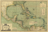 General Chart of the West Indies Giclee Print by John Smith Speer