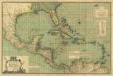 General Chart of the West Indies Impressão giclée por John Smith Speer