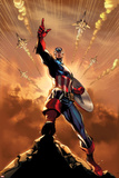 Spider-Man No. 2 Cover Featuring Captain America Poster by J. Scott Campbell