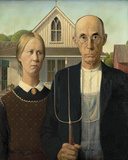 American Gothic Giclee Print by Grant Wood