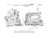 """Your room is exactly how you left it before you went to college, except o... - New Yorker Cartoon Premium Giclee Print by Barbara Smaller"