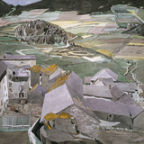 The Village of La Llagonne Giclée-tryk af Charles Rennie Mackintosh