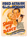 Shall We Dance - Starring Fred Astaire and Ginger Rogers - Music by George Gershwin 高品質プリント :  Pacifica Island Art