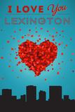 I Love You Lexington, Kentucky Posters por  Lantern Press