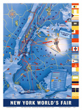 New York City Map - World's Fair 1939 Láminas por Henry Stahlhut