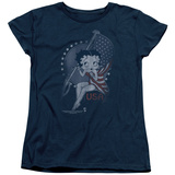 Womens: Betty Boop- Patrioic Icon T-shirts