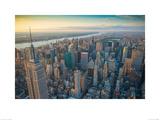 Jason Hawkes- Manhattan Morning Kunstdrucke von Jason Hawkes