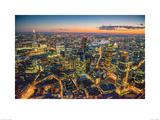 Jason Hawkes- London At Night Kunstdrucke von Jason Hawkes