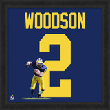 Charles Woodson, University of Michigan Wolverines - Framed photographic representation of the play Framed Memorabilia