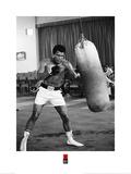 Muhammad Ali- Punching Bag Workout Kunstdrucke