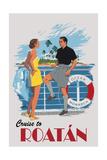 Cruise to Roatan Vintage Poster Kunstdrucke von  Lantern Press