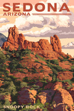 Sedona, Arizona - Snoopy Rock Prints by  Lantern Press