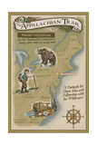 Greenwood Lake, New York - Appalachian Trail Map Posters av  Lantern Press