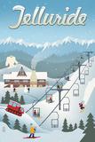 Telluride, Colorado - Retro Ski Resort Prints by  Lantern Press