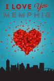 I Love You Memphis, Tennessee Posters por  Lantern Press