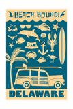 Delaware - Coastal Icons Prints by  Lantern Press