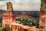 Amarillo, Texas - Palo Duro Canyon - Lighthouse Poster by  Lantern Press
