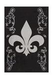 Flourish and Fleur de Lis - Black Print by  Lantern Press