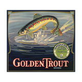 Golden Trout Brand - Lindsay, California - Citrus Crate Label Juliste tekijänä  Lantern Press