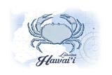 Lahaina, Hawaii - Crab - Blue - Coastal Icon Posters av  Lantern Press